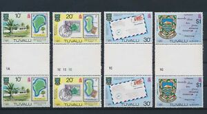 LN89088 Tuvalu 1980 London stamp expo gutter pairs MNH