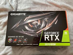 GIGABYTE GeForce RTX 2070 Windforce OC 3X 8GB GDDR6 Graphics Card Box