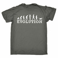 Evolution Dog Walker T-SHIRT Puppy Dogs Tee Top Funny Present birthday gift