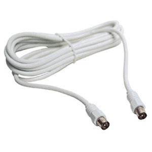 CABLE ANTENNE LONGUEUR 3 METRES FICHES TYPE COAXIALE MALE MALE