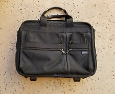 "Tumi 'Alpha' Wheeled Deluxe Expandable Laptop Brief 17.5"" Black 2206D3 MSRP $595"