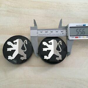 2x Peugeot 56mm Speedline wheel centre caps.   # JL266