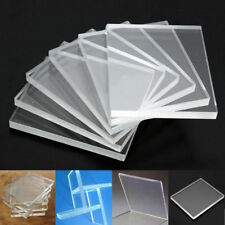 6x Thick 5mm Clear Acrylic Blocks Pads Stamping Rubber Plexiglass Thin 45x55mm