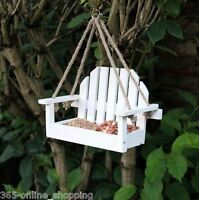 Hanging Deluxe Bird Table Feeding Station Wooden Feeder Garden Wood House Seat