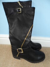 New Look Zip 100% Leather Block Heel Boots for Women