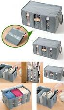 Bamboo 65L Charcoal Folding Clothes Blanket Closet Organizer Storage Bag Box 02