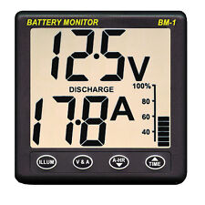 NASA Clipper 12V Marine Battery Performance Monitor Instrument with 100A Shunt