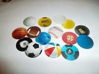 Pre Cut One Inch Bottle Cap Images Sports Balls Mix #2 Free Shipping