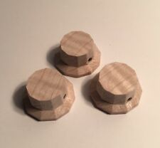 Guilford Flame Maple 11 Sided Facet Cut Guitar Knobs - Set Of 3 - USA
