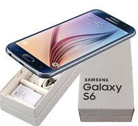 New in Box Samsung Galaxy S6 SM-G920T Black Sapphire 32GB T-Mobile Smartphone