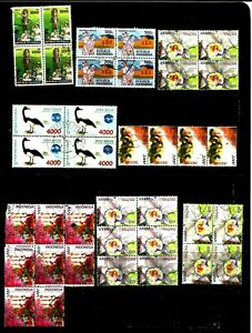 Indonesia 1994 to 2001 blocks of used stamps