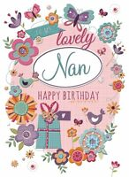 "Happy Birthday Card ""Lovely Nan"" 6.75"" x 5.00"" DN 41251"