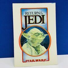 Return of the Jedi Yoda sticker decal Star Wars vintage mactac starliner Dagobah