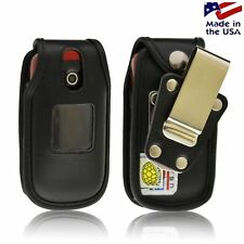 Turtleback Samsung Crono 2 R270 Leather Black Fitted Phone Case Metal Belt Clip