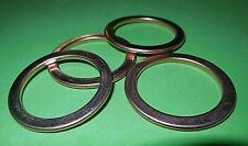 4x new Exhaust gaskets Z1 KZ900 KZ1000 KZ1100 ZX1100 ZN1100 ZG1200 ZX750