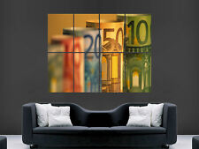 EURO MONEY MACRO  NOTES CASH ART IMAGE HUGE  LARGE PICTURE POSTER GIANT