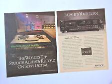 SONY DTC-700 / Advert Reklame Publicidad Publicite DAT Hit Factory Studios NYC