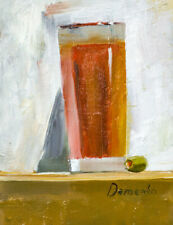 Tomato Juice with an olive OIL painting daily painting still life 6 *8
