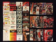 29 different CALGARY FLAMES NHL POCKET SCHEDULES 1985-86 to 2016-17 Nice Run