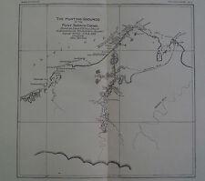 Point Barrow Eskimo Deer Hunting Grounds Alaska 1892 Map Print
