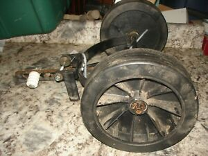 Stihl MM 55 27cc garden tiller wheels and frame   part only mm55  used