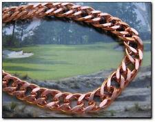 Solid Copper 5/16 of an inch wide Men's 9 Inch Link Bracelet CB697G.
