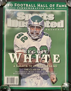 Reggie White Poster 17x23 Football Sports Illustrated 7/26/06 Store Display HOF