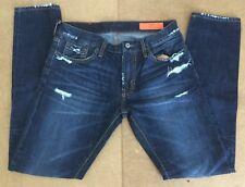 Jean Shop Mens Jim Selvedge Work Worn Denim Slim fit Size 32