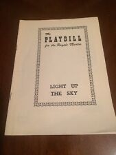 Playbill  Royale Theatre Light up the Sky Moss Hart Comedy  May 16, 1949