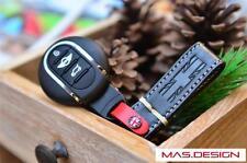 Black & White stitch Leather keychain for MINI Cooper S F54 F55 F56 F57 F60 JCW