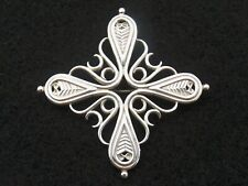 Vintage sterling silver brooch by Ola Gorie  Finnish cross design  Scottish 1996