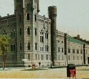 1900s Central Armory Cleveland Ohio Vintage Postcard Street View