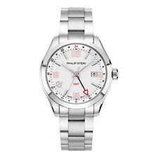 Philip Stein Traveler GMT White Dial Men's Watch 92-GMTWRG-SS