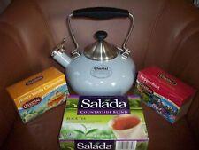 New listing New Chantal Bridge Teakettle 1.8 qt. Soft Gray with Assorted Tea