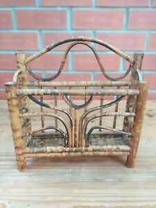 VINTAGE / RETRO BAMBOO LETTER RACK FREE STANDING 1970's