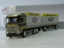 Herpa 076333-002 1//87 bestiame Transporter-RIMORCHI-ROSSO//BIANCO-NUOVO