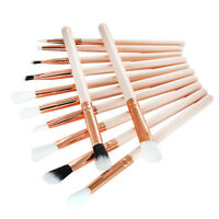 12 Pcs Makeup Brush Set Professional Face Eye Shadow Eyeliner Foundation Blush