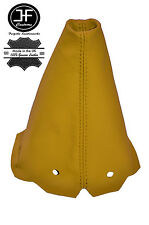 YELLOW LEATHER GEAR GAITER FITS PEUGEOT 306 HATCHBACK ESTATE CABRIO CONVERTIBLE