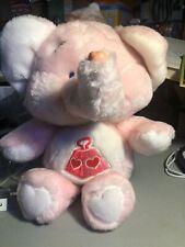 "13"" Care Bears Cousin Lotsa Heart Elephant Pink Plush Kenner Vintage (T10)"