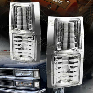 For 1994-1998 Chevy C10 1500 2500 Corner Lights Signal Lamps Silverado Tahoe 4pc