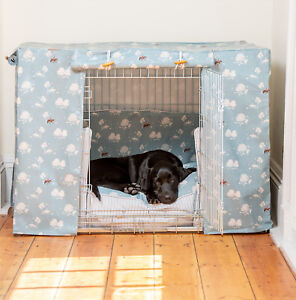 Lords & Labradors Country Park Oilcloth Dog Crate Cover