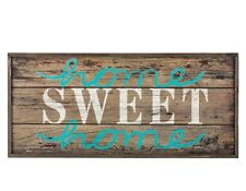 "Large Rustic Wood Sign - ""Home Sweet Home"" 26"" X 12"" Wall Decor Shabby Chic New"