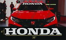 Honda  windshield Banner Vinyl Decal Sticker race civic accord