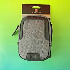 NEW Platinum Metropolitan Compact Padded Camera Case GRAY/BLACK  PT-DPS01MP #aU6