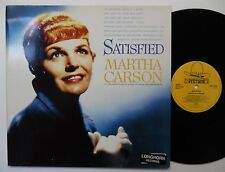 MARTHA CARSON Satisfied LONGHORN Recs GERMAN pressed LP