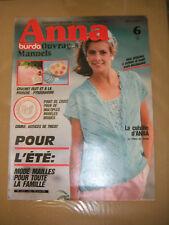 Anna - Burda Ouvrages Manuels N° 6 1985 Astuces de tricot Pyrogravure Patrons