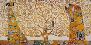 Keilrahmenbild LEBENSBAUM Gustav Klimt Bild Rahmen Jugendstil Kunst Wandbild Neu