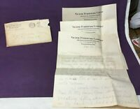 * 1936 Victor Furniture Co Letterhead & Envelope Indianapolis Indiana