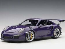 Autoart Porsche 911 991 GT3 RS 1:18 Model Ultraviolet with Silver wheels 78169