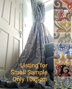 Fabric Sample Only for Cotton Lined Curtains for Bespoke Made